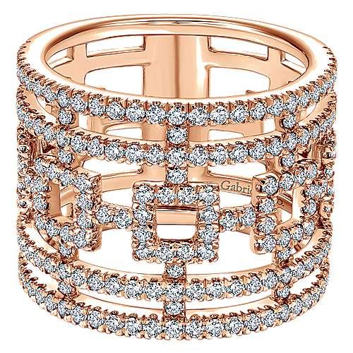 14k Rose Gold Lusso Fashion Ladies' Ring