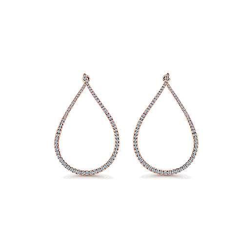 14k Rose Gold Lusso Intricate Hoop Earrings