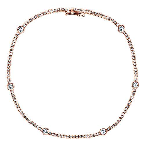 14k Rose Gold Lusso Tennis Bracelet