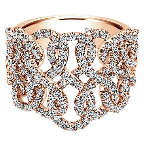 Gabriel - 14k Rose Gold Lusso Twisted Ladies' Ring