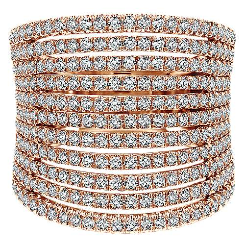 Gabriel - 14k Rose Gold Lusso Wide Band Ladies' Ring