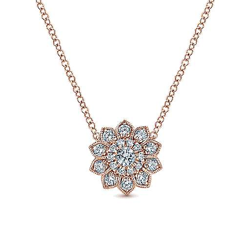 Gabriel - 14k Rose Gold Messier Fashion Necklace