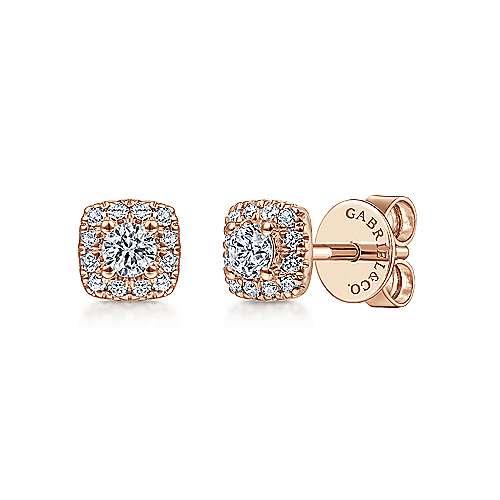 Gabriel - 14k Rose Gold Messier Stud Earrings