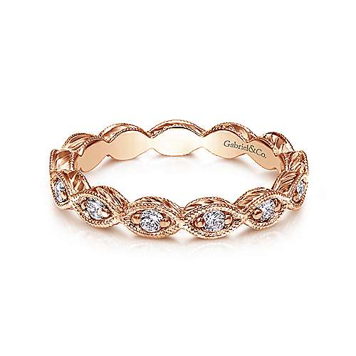 Gabriel - 14k Rose Gold Midi Ladies' Ring