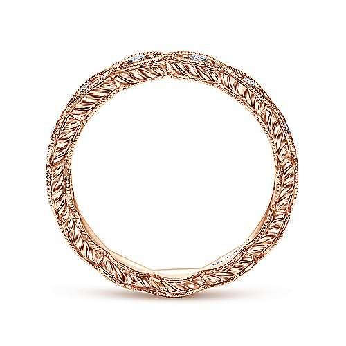 14k Rose Gold Midi Ladies' Ring angle 2