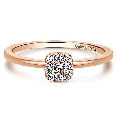 Gabriel - 14k Rose Gold Silk Classic Ladies' Ring