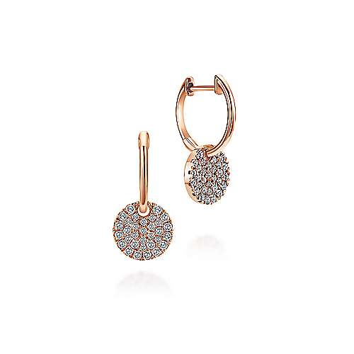 14k Rose Gold  Drop