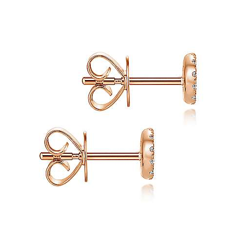 14k Rose Gold Silk Stud Earrings angle 3