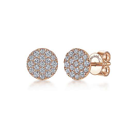 Gabriel - 14k Rose Gold Silk Stud Earrings