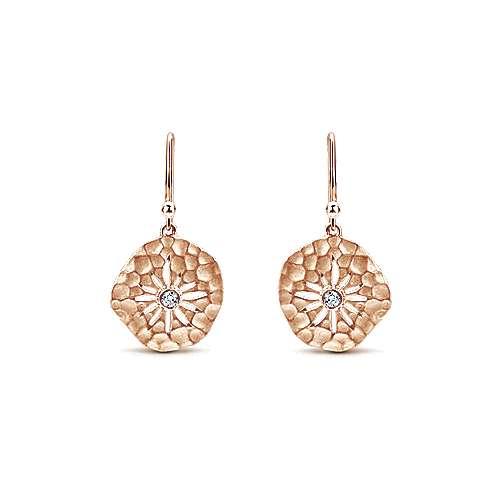 14k Rose Gold Souviens Drop Earrings angle 1