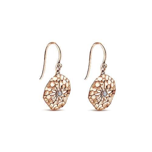 14k Rose Gold Souviens Drop Earrings angle 2