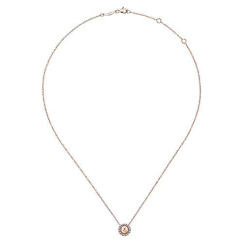 14k Rose Gold Souviens Fashion Necklace angle 2