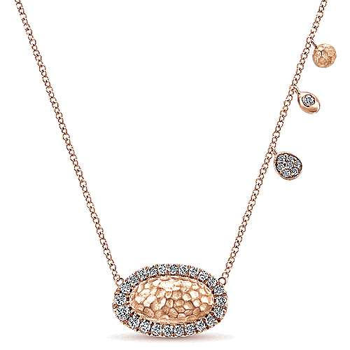 14k Rose Gold Souviens Fashion Necklace angle 1