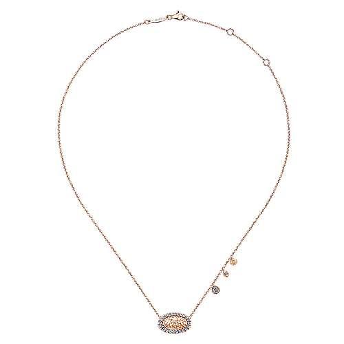 14k Rose Gold Souviens Fashion Necklace angle 2