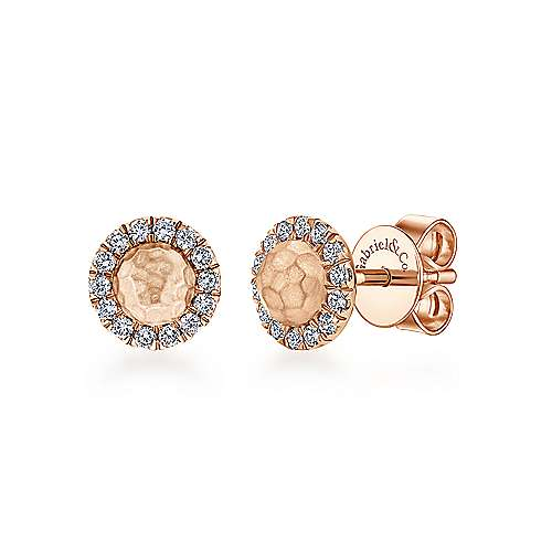 14k Rose Gold Souviens Stud Earrings angle 1