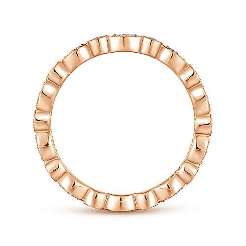 14k Rose Gold Stackable Eternity Stackable Ladies' Ring angle 2
