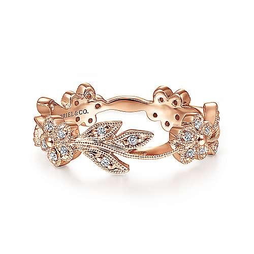 14k Rose Gold Stackable Ladies Ring LR4251K45JJ Gabriel Co