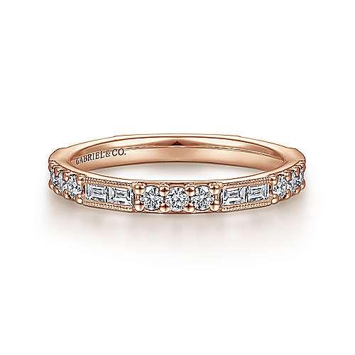 14k Rose Gold Stackable Ladies Ring LR4572K45JJ Gabriel Co