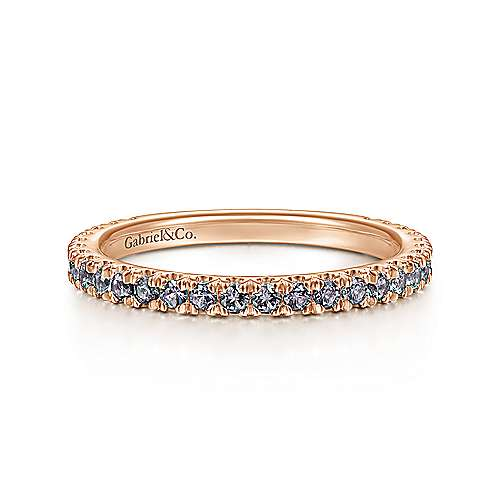 14k Rose Gold Stackable Ladies