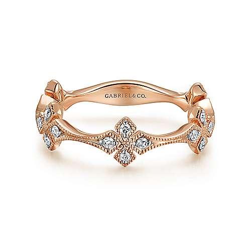 14k Rose Gold Stackable Ladies Ring LR50891K45JJ