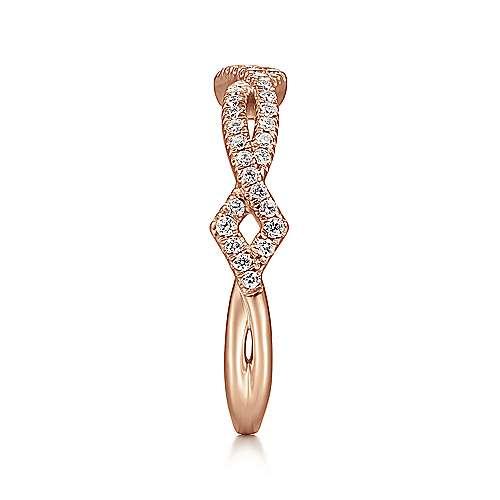 14k Rose Gold Stackable Ladies