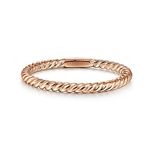 Gabriel - 14k Rose Gold Stackable Ladies' Ring