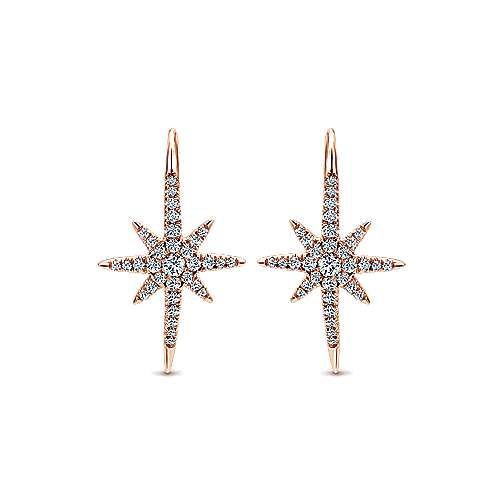 14k Rose Gold Starlis Drop Earrings angle 1