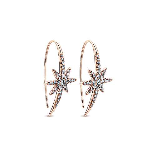 14k Rose Gold Starlis Drop Earrings angle 2