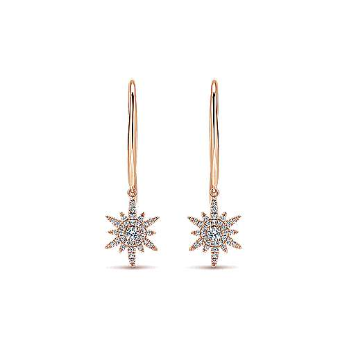 14k Rose Gold Starlis Drop Earrings