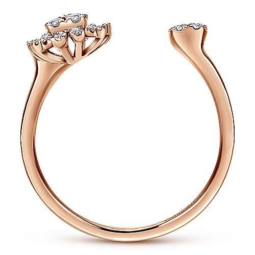 14k Rose Gold Starlis Fashion Ladies' Ring angle 2