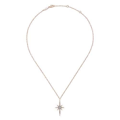 14k Rose Gold Starlis Fashion Necklace angle 2