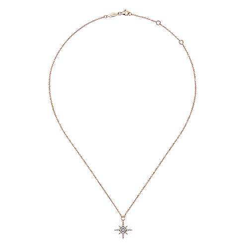 14k Rose Gold Starlis Fashion Necklace angle 2