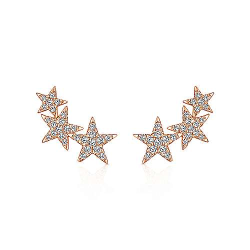 14k Rose Gold Starlis Stud Earrings angle 1
