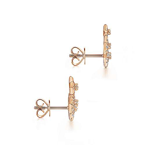 14k Rose Gold Starlis Stud Earrings angle 3