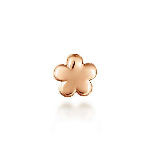 14k Rose Gold Treasure Chests Locket Charm Pendant angle 2