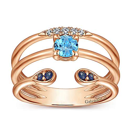 14k Rose Gold Trends Fashion Ladies' Ring angle 4