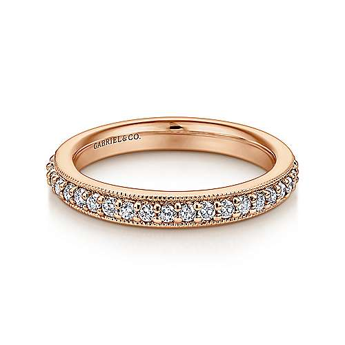 Gabriel - 14k Rose Gold Victorian Eternity Band Anniversary Band