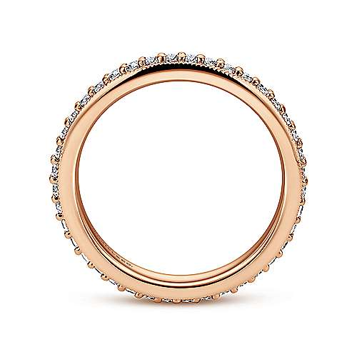 14k Rose Gold Victorian Eternity Band Anniversary Band angle 2