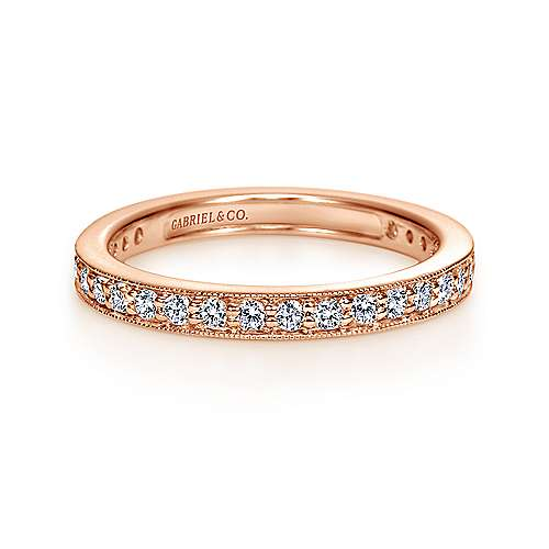 14k Rose Gold Victorian Eternity Band Anniversary Band
