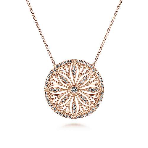 Gabriel - 14k Rose Gold Victorian Fashion Necklace