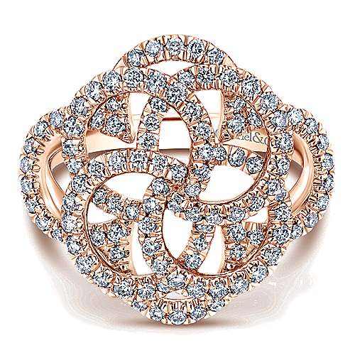 Gabriel - 14k Rose Gold Victorian Twisted Ladies' Ring