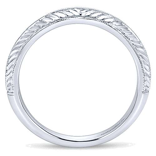 14k, W Gold Wedding Band angle 2