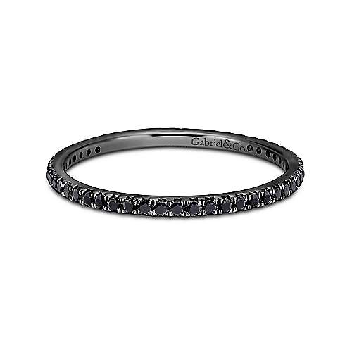 Gabriel - 14k W W And Black Rhodium Contemporary Eternity Band Anniversary Band