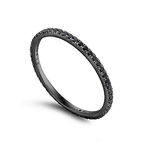 14k W W And Black Rhodium Contemporary Eternity Band Anniversary Band angle 3