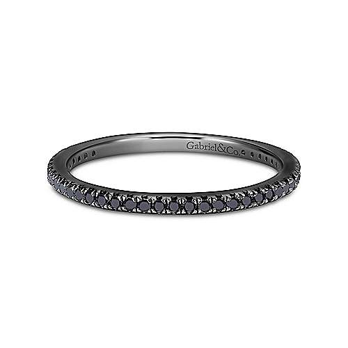 14k W W And Black Rhodium Contemporary Eternity Band Anniversary Band angle 1