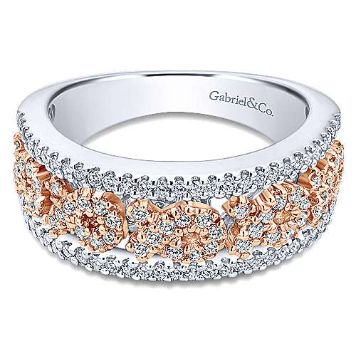 14k White And Rose Gold Care Collection Fashion Ladies' Ring angle 1