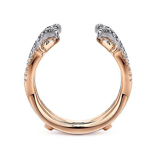 14k White And Rose Gold Contemporary Enhancer Anniversary Band