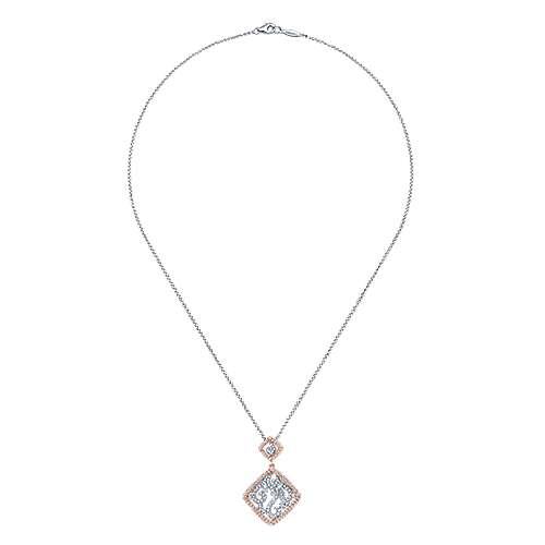 14k White And Rose Gold Flirtation Fashion Necklace angle 2