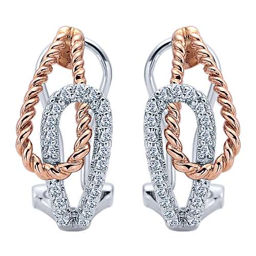 14k White And Rose Gold Hampton Fashion Earrings angle 1