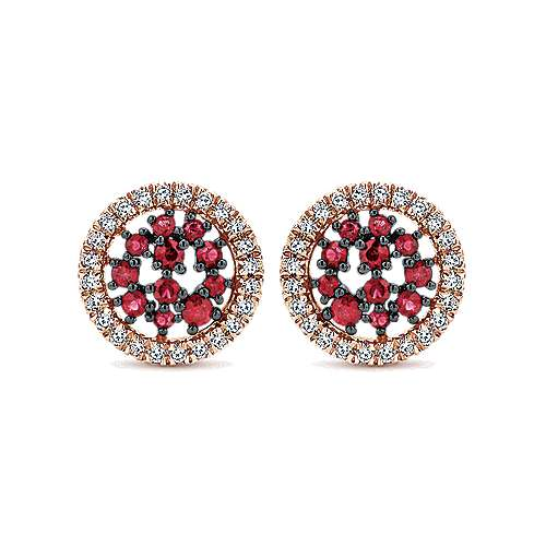 Gabriel - 14k White And Rose Gold Lusso Color Stud Earrings